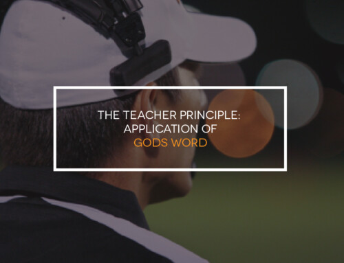 The Teacher Principle: Application of God's Word